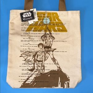 NWT DISNEY LOUNGEFLY STAR WARS canva tote-packaged